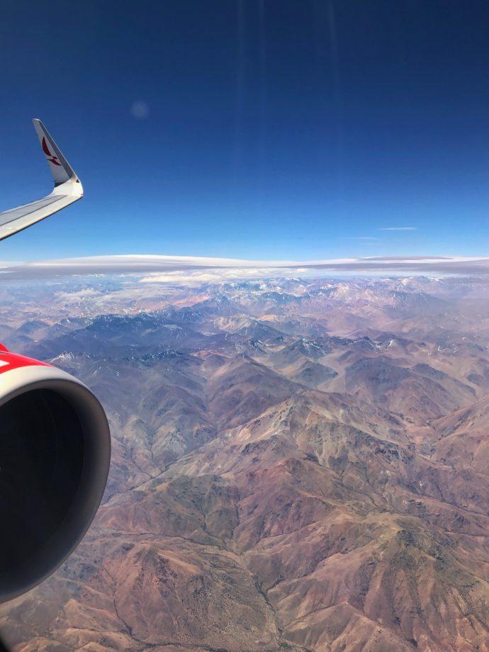 Anflug auf Santiago
