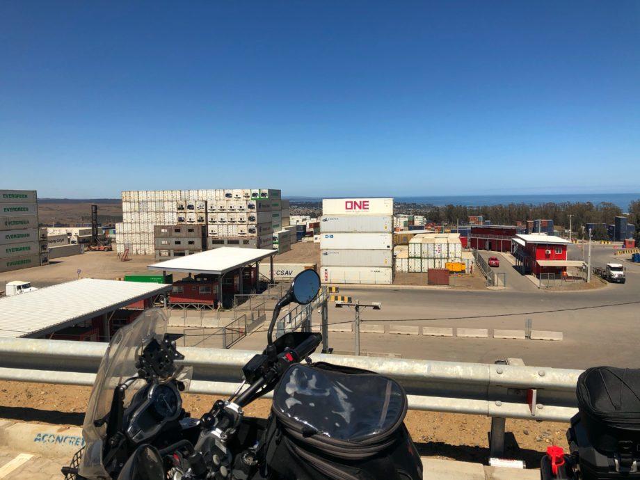 Die ersten Meter in Chile auf dem Weg zurück nach Santiago