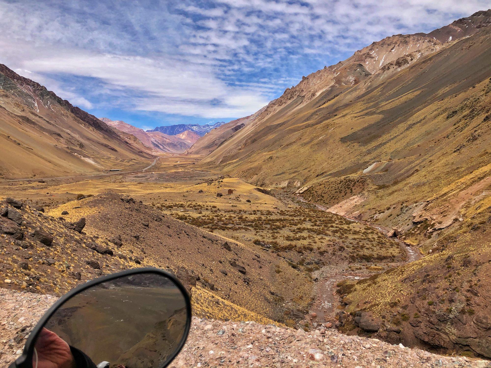 Kaum in Argentinien und schon blauer Himmel und bestes Wetter