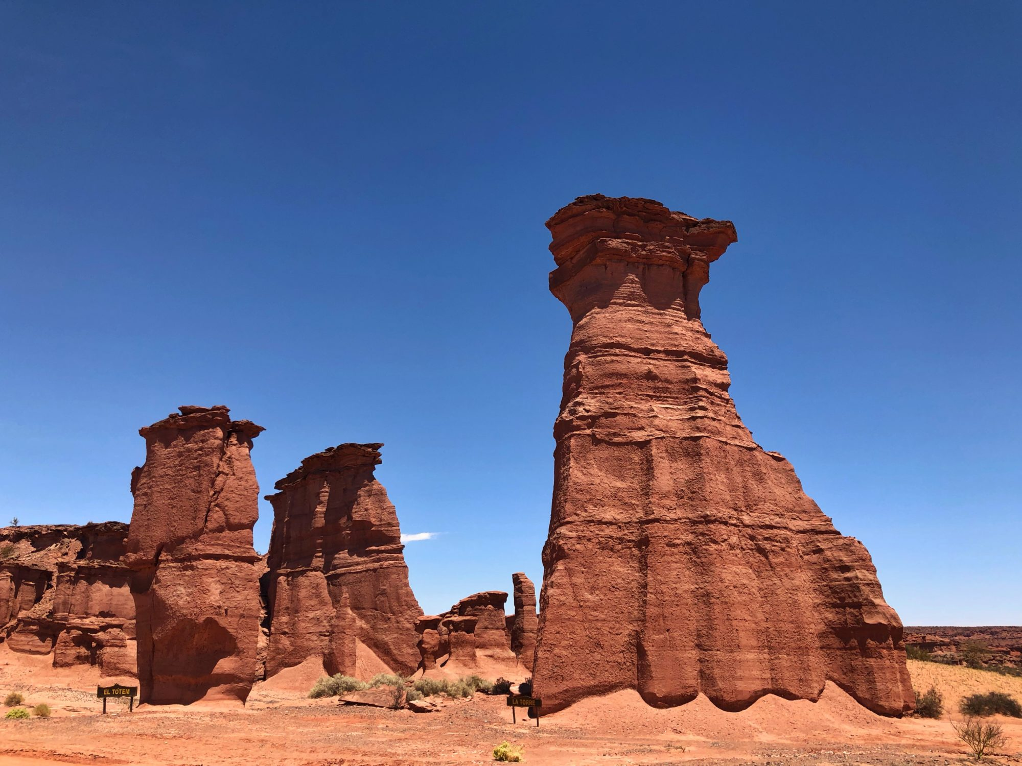 El Totem und La Torre - Nationalpark Talampaya Argentinien