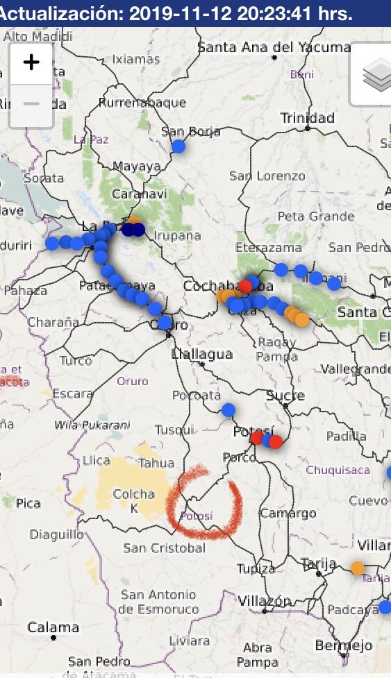 Übersicht der Unruhen in Bolivien