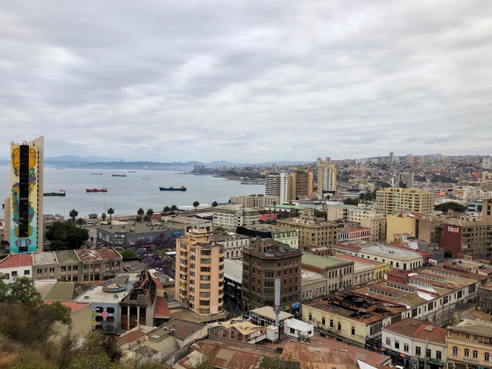 Die Bucht von Valparaíso
