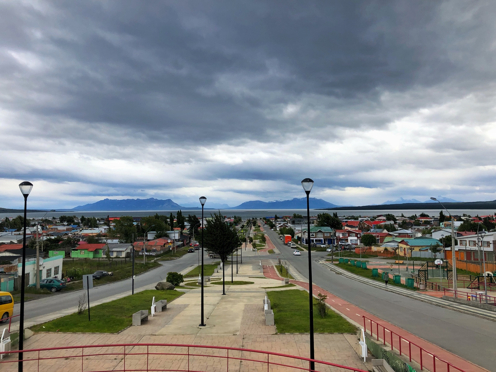 Die Hauptstraße in Puerto Natales