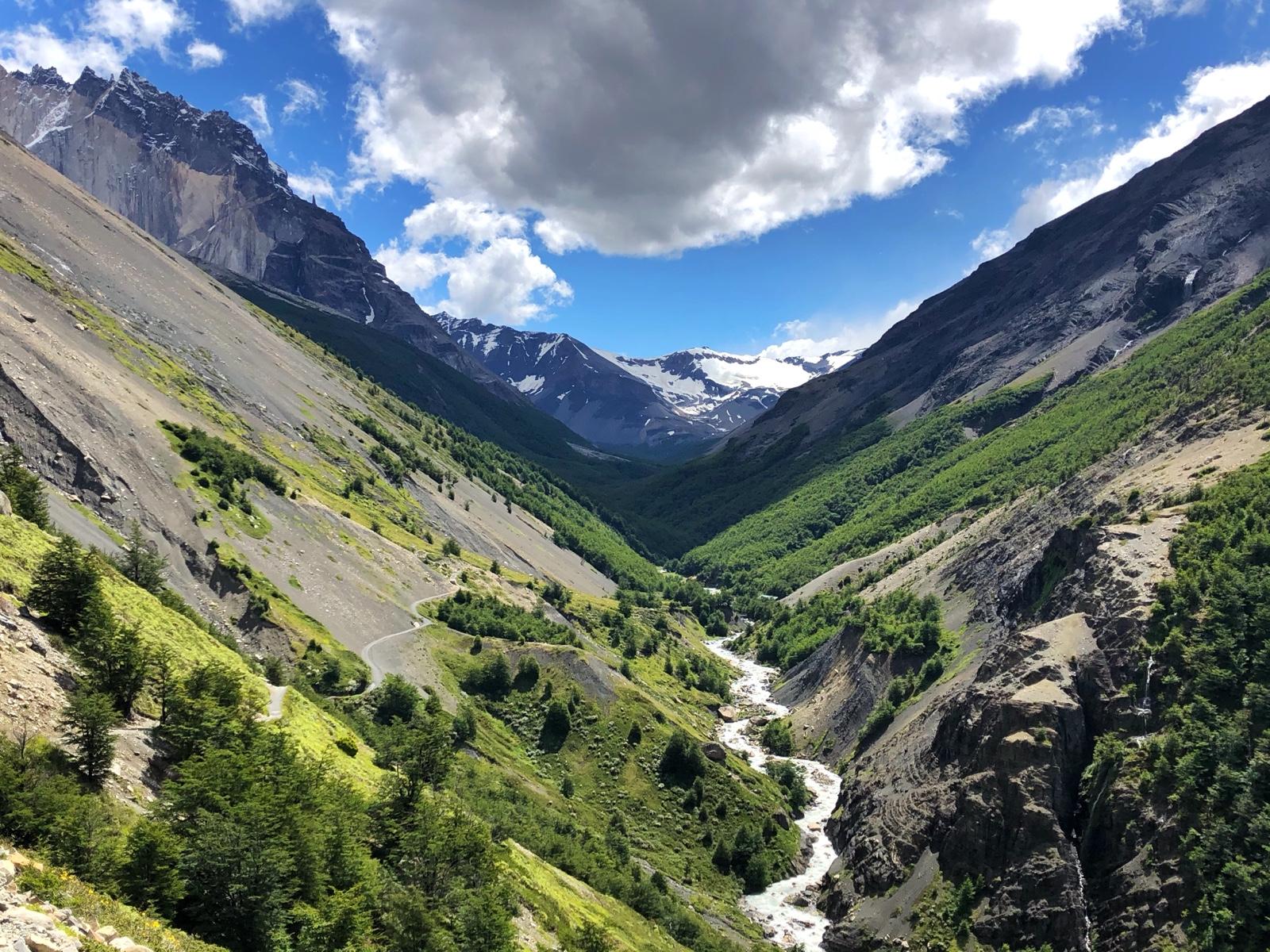 Blick auf den Paine vom Trail aus